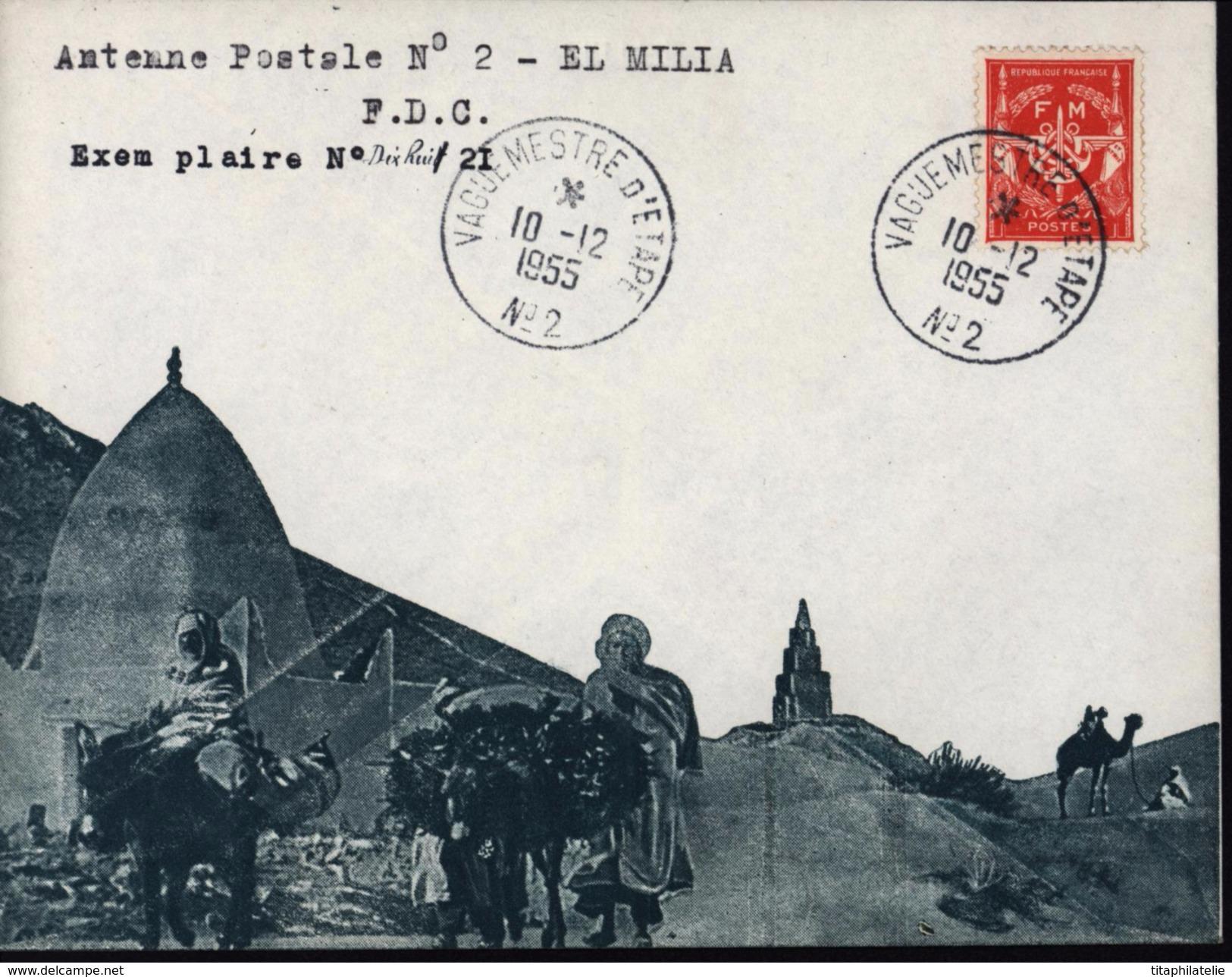 Guerre Algérie Enveloppe Illustrée Vert Arabes Marabout Dromadaire YT Franchise 12 CAD Vaguemestre D'étape N2 10 12 1955 - Marcophilie (Lettres)