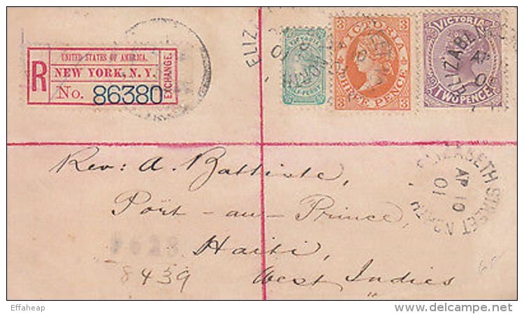Victoria: Front, North Elizabeth St, Via NY, To Port-au-Prince Haiti, 10 Ap 1901 - Australia
