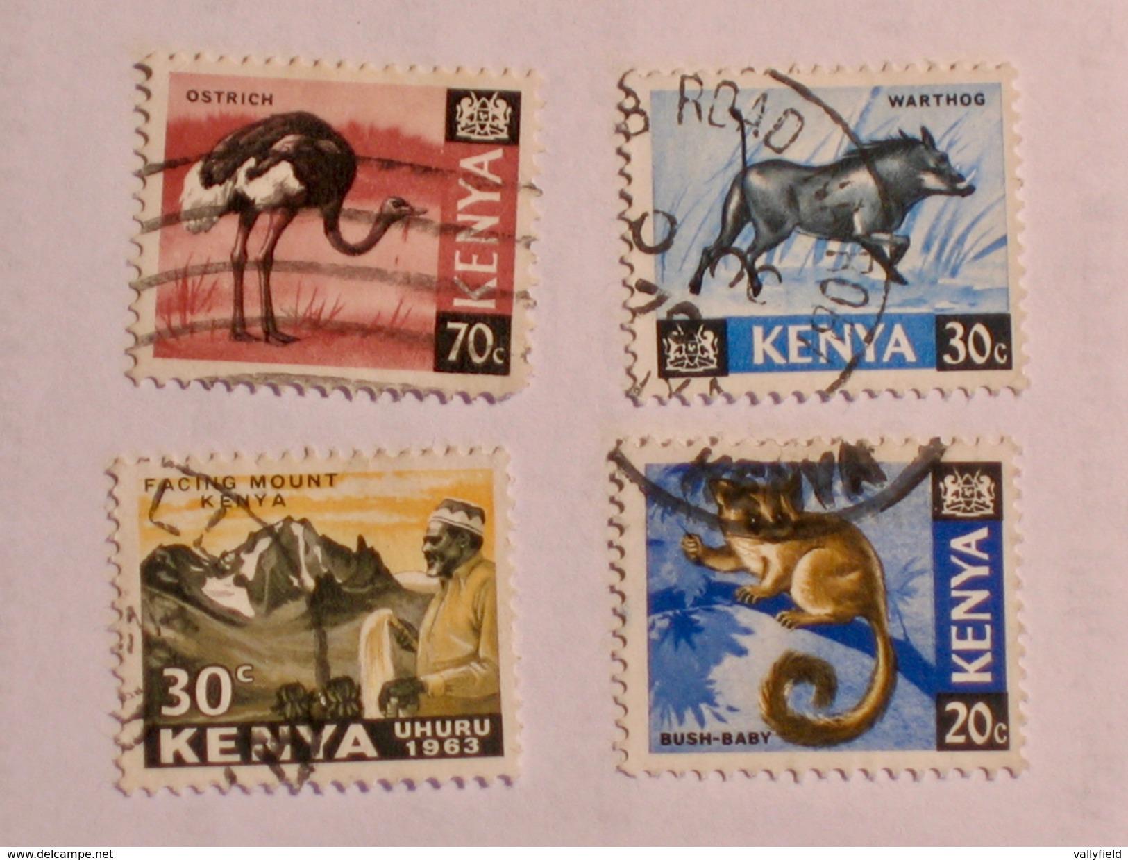 KENYA  1963-69   LOT# 1  ANIMAL - Kenya (1963-...)