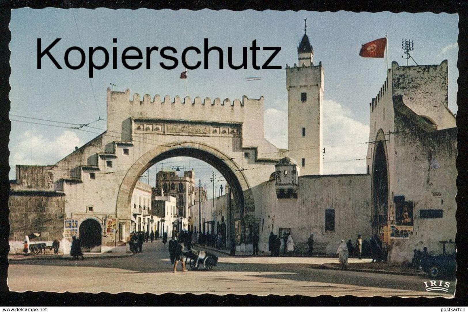 ÄLTERE POSTKARTE TUNIS BAB EL KHADRA TUNESIEN TUNISIA Tor gate porte postcard cpa Ansichtskarte AK IRIS Verlag Paris