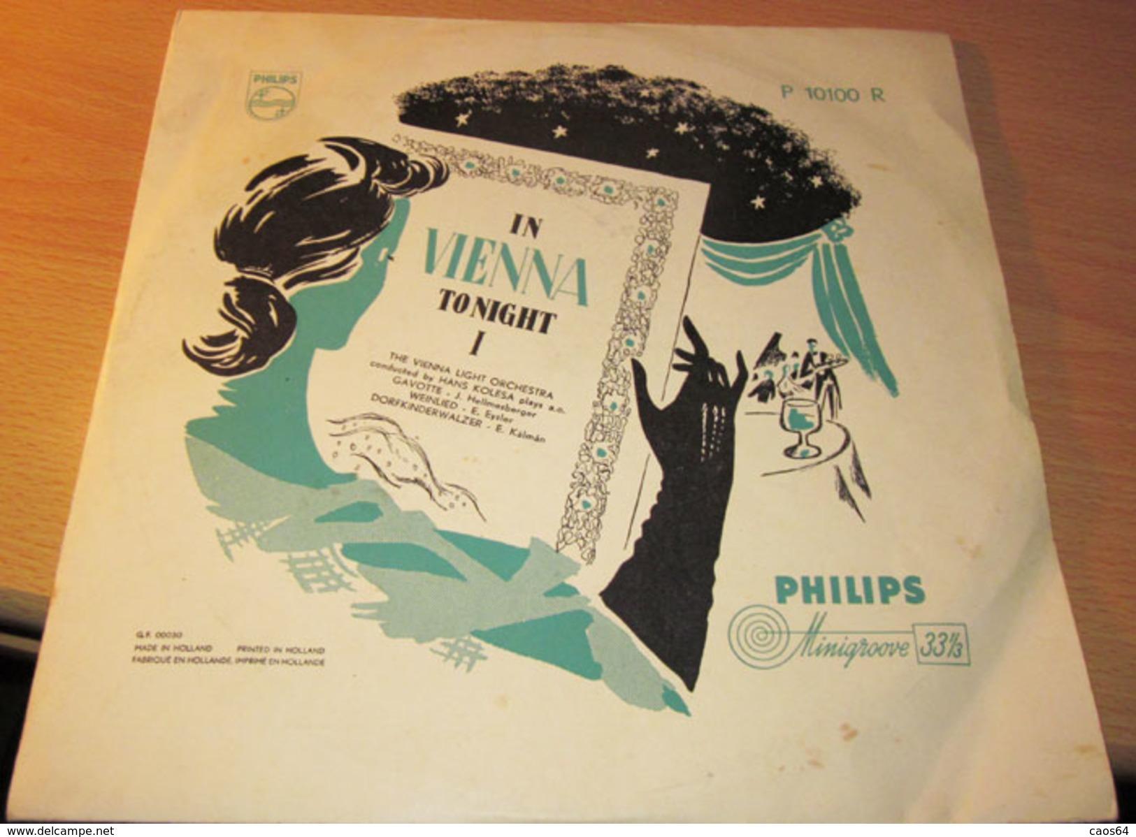 "The Vienna Light Orchestra, Hans Kolesa - In Vienna Tonight II M/VG+ 10"" - Formati Speciali"