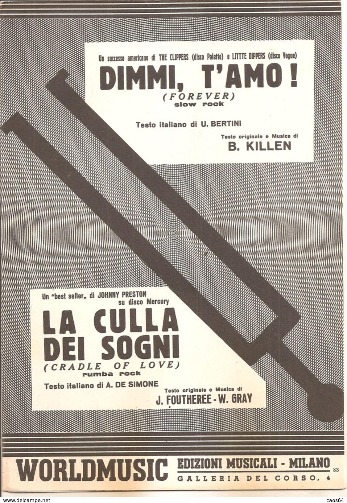 DIMMI T'AMO LA CULLA DEI SOGNI - Musica Popolare
