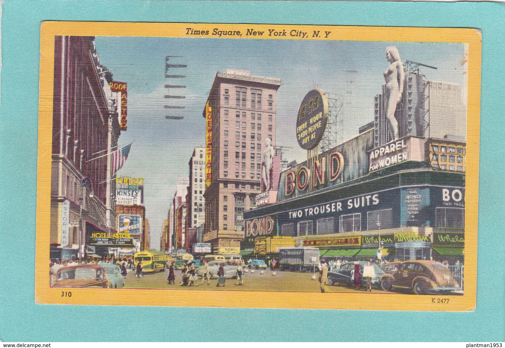Old Postcard Of Times Square, New York City, United States ,R31. - Time Square
