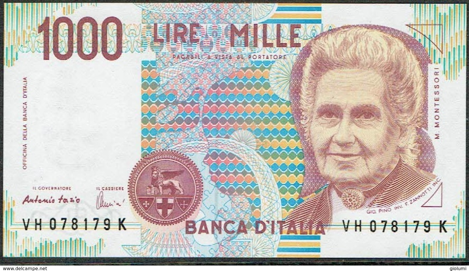 ITALY 1000 Lire Maria Montessori - 1000 Lire