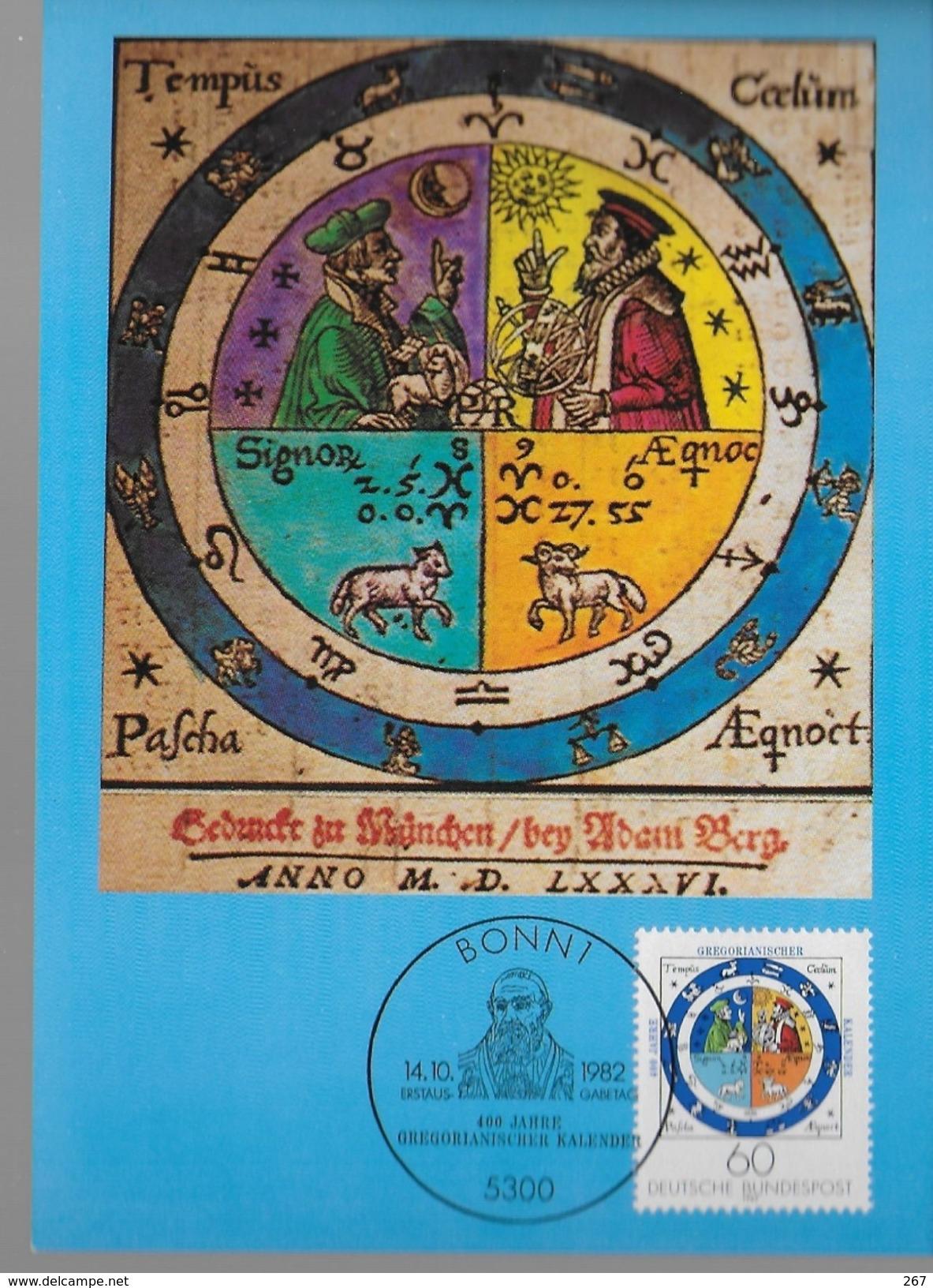 ALLEMAGNE  Carte Maxi   1982 Calendrier Gregorien - Unclassified
