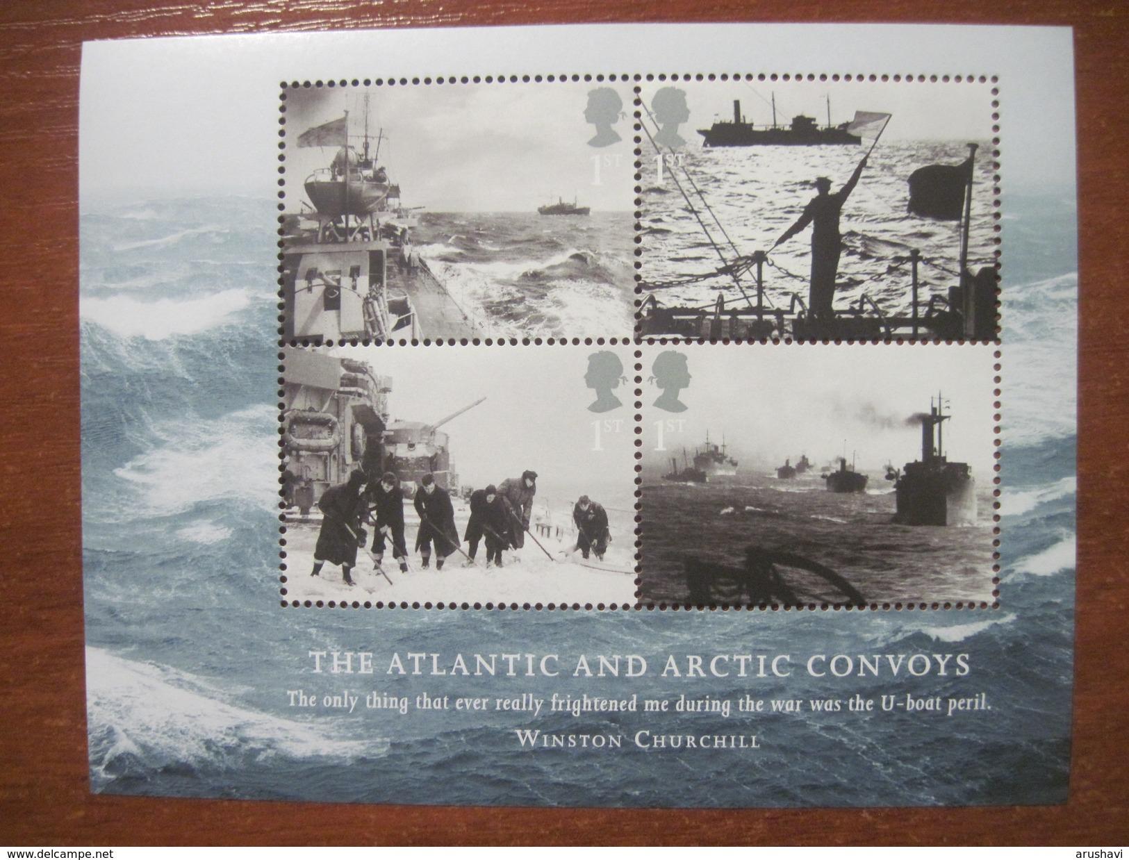 GREAT BRITAIN 2013 WW II  Navy, The Atlantic And Arctic Convoys Mini Sheet** - 1952-.... (Elizabeth II)