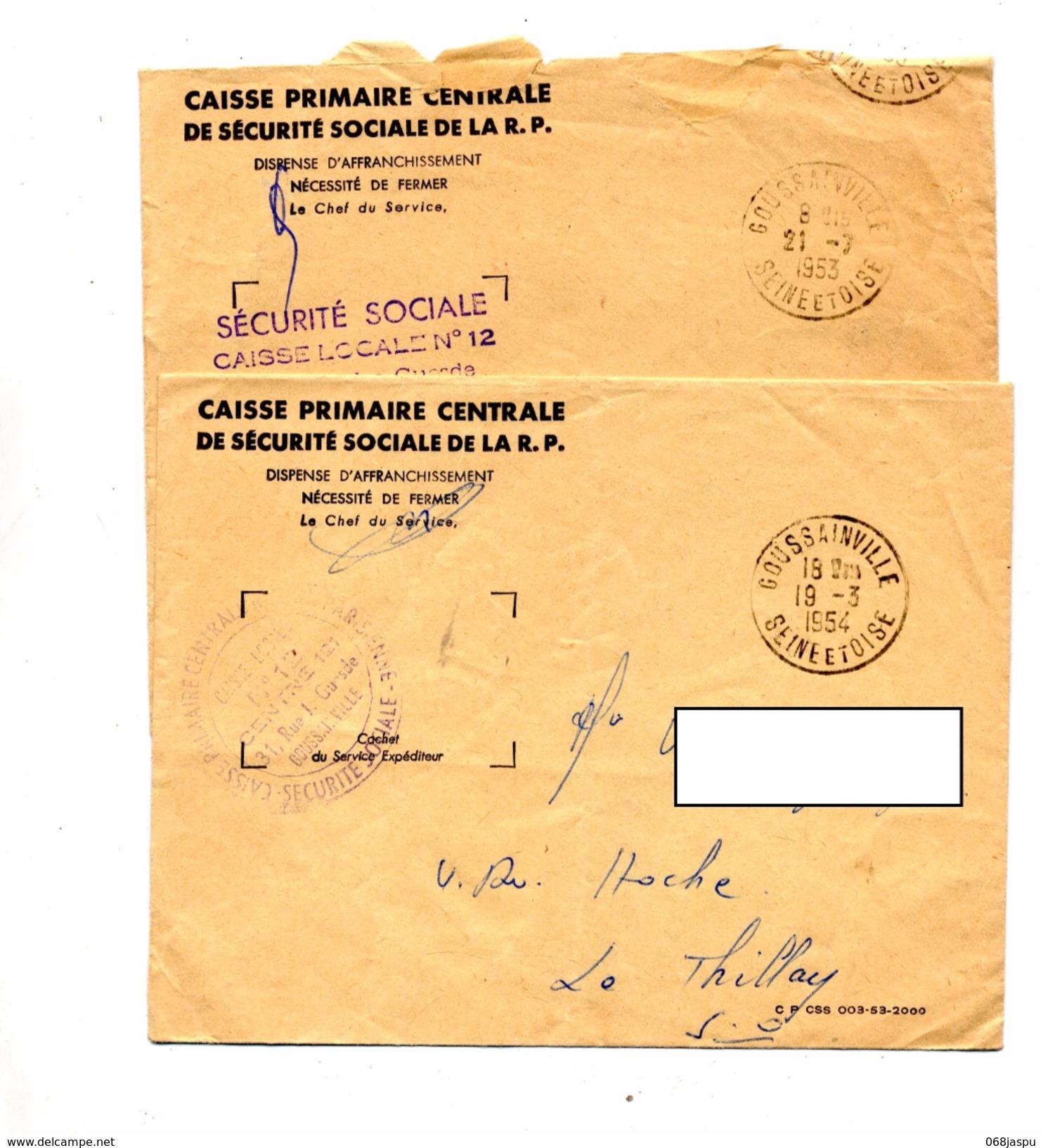 Lettre Franchise Cachet Goussainville - Postmark Collection (Covers)