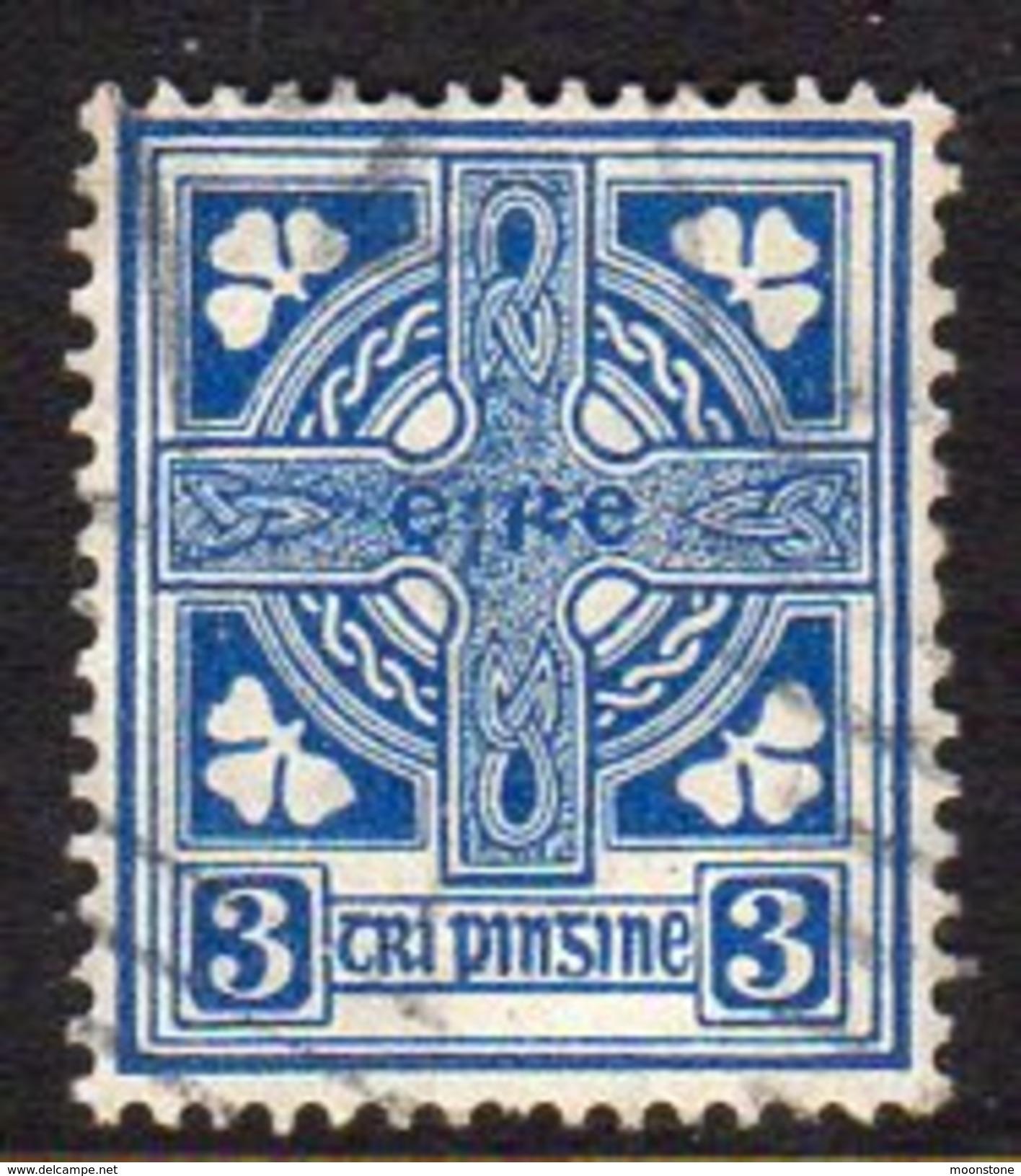 Ireland 1922-34 3d Definitive, Wmk. SE, Used, SG 76 - 1922-37 Stato Libero D'Irlanda
