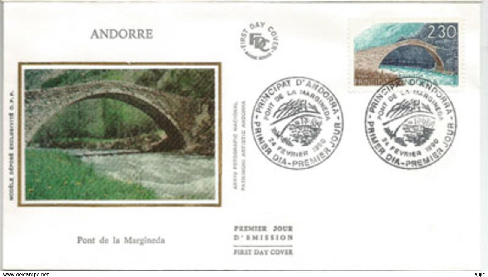 ANDORRA. Pont Roman De La Margineda Sur La Rivière Grand Valira. FDC - Ponti