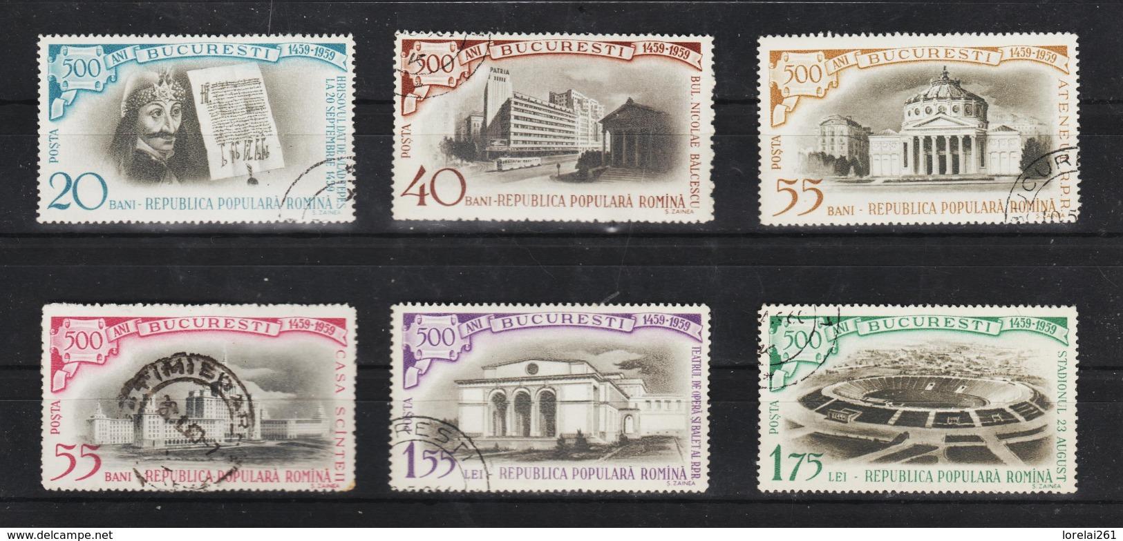 1959 - 5 Centenaire Du Bucarest   Mi No 1795/1800 Et Yv No 1637/1642 - 1948-.... Republiken