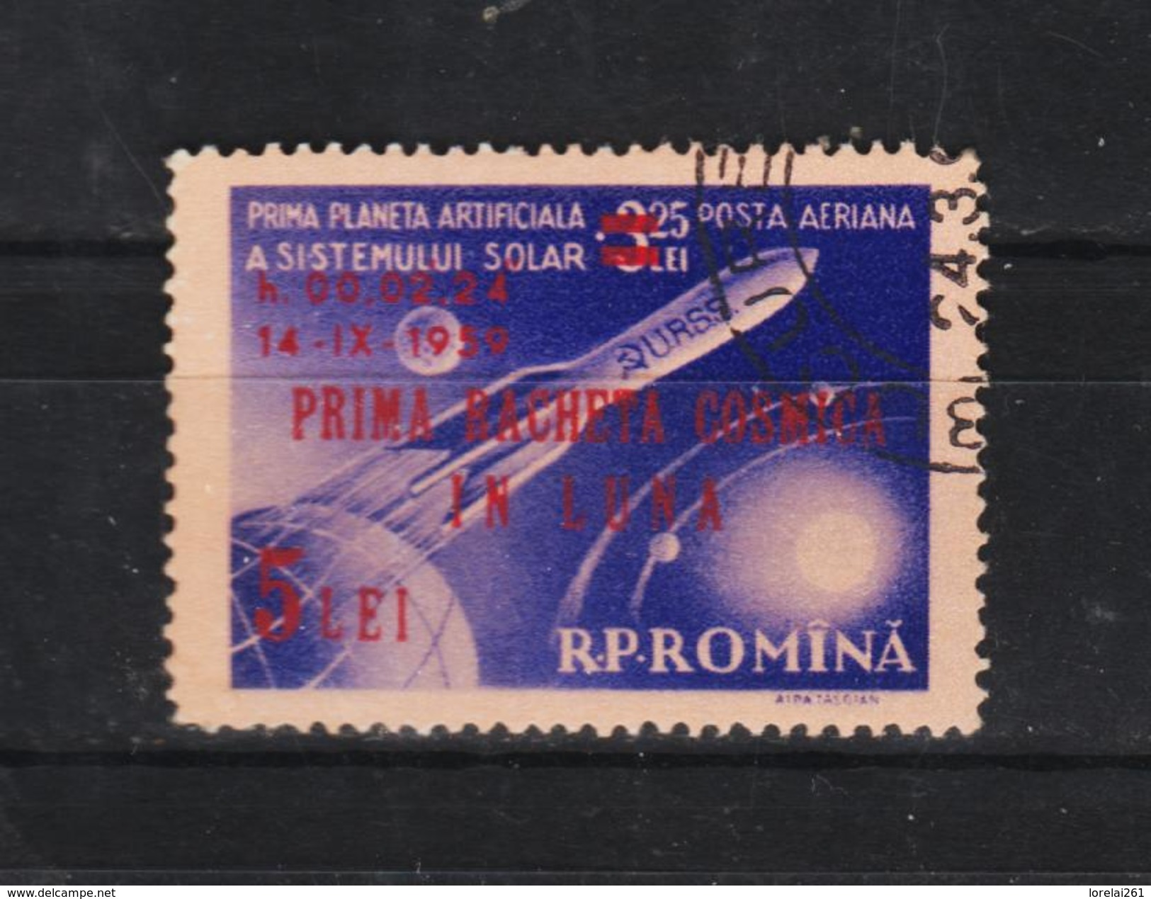 1959 - Lunik  II,  MI No 1794 Et Yv  No P.A. 101 - Gebraucht
