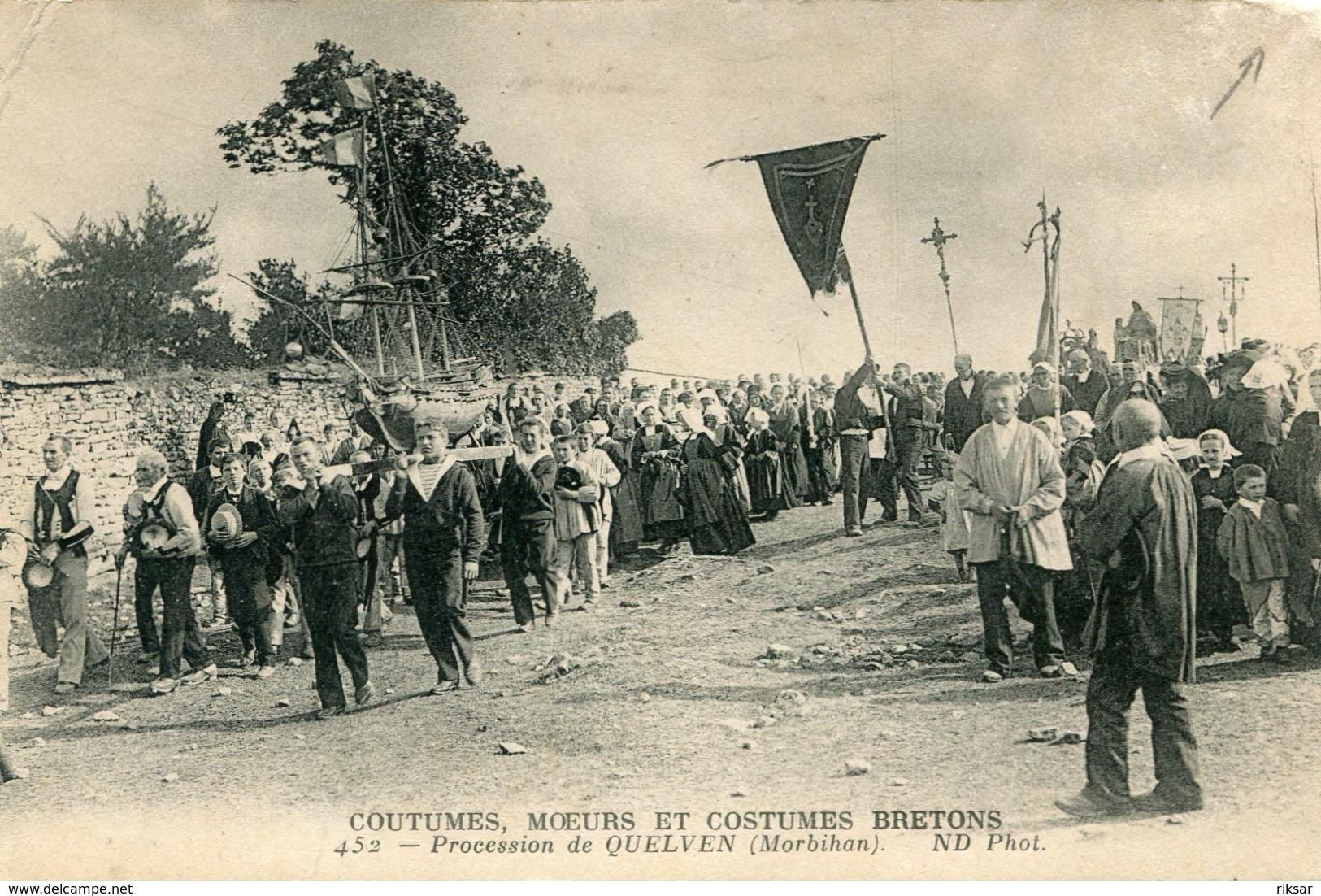 QUELVEN EN GUERN(PROCESSION) - Francia