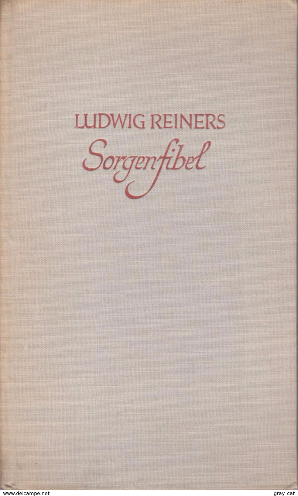 Sorgenfibel By Reiners,Ludwig - Books, Magazines, Comics
