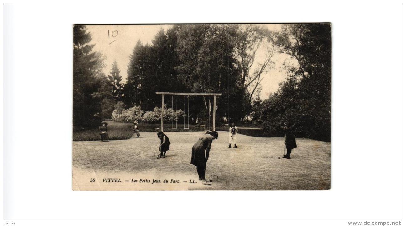 VITTEL PETIT JEUX DU PARC,CROQUET,BALANCOIRE A VOIR !!  REF 51795 - Jeux Et Jouets