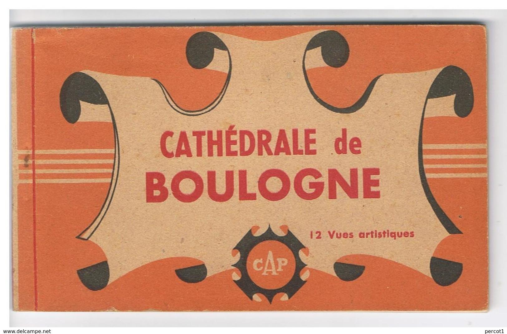 JMF26.04 /  CPA / BOULOGNE / LA CATHEDRALE - 12 VUES - France