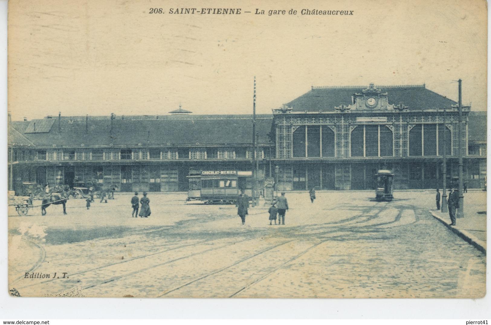 SAINT ETIENNE - La Gare De Châteauroux (animation) - Saint Etienne