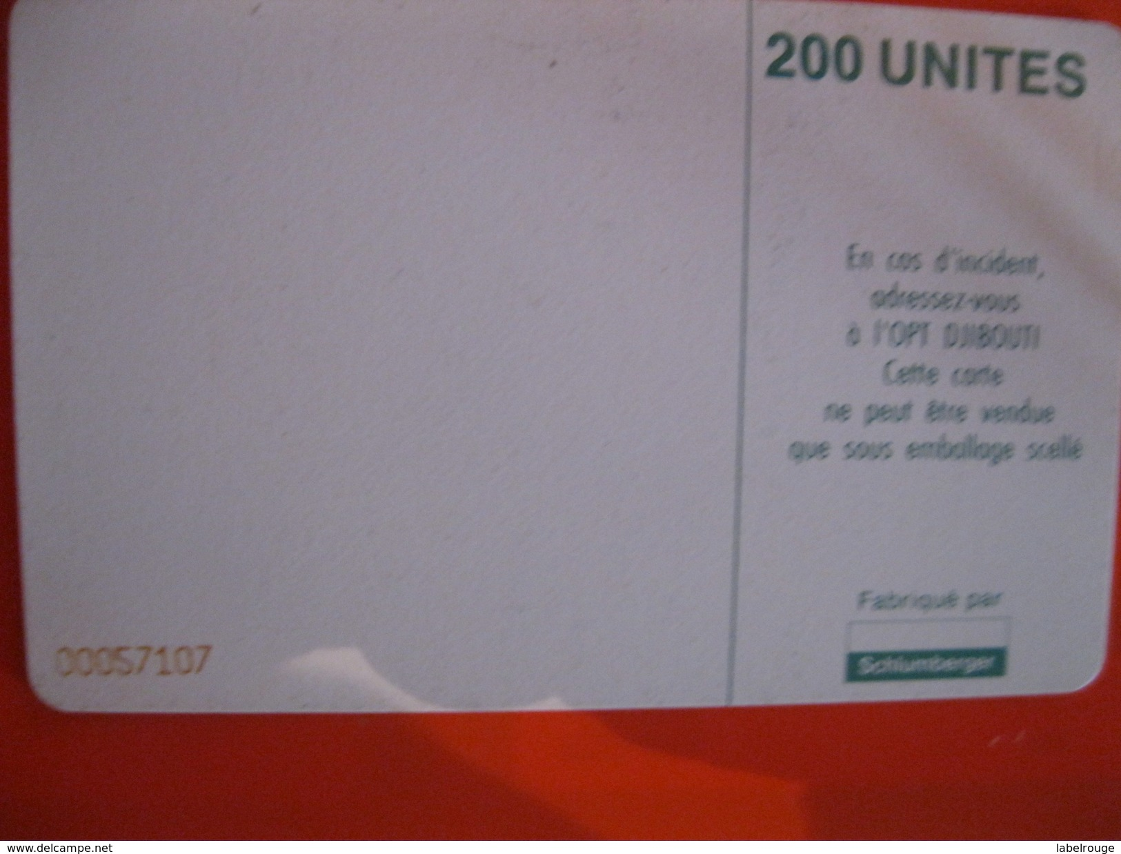 Télécartes De Djibouti - Dschibuti