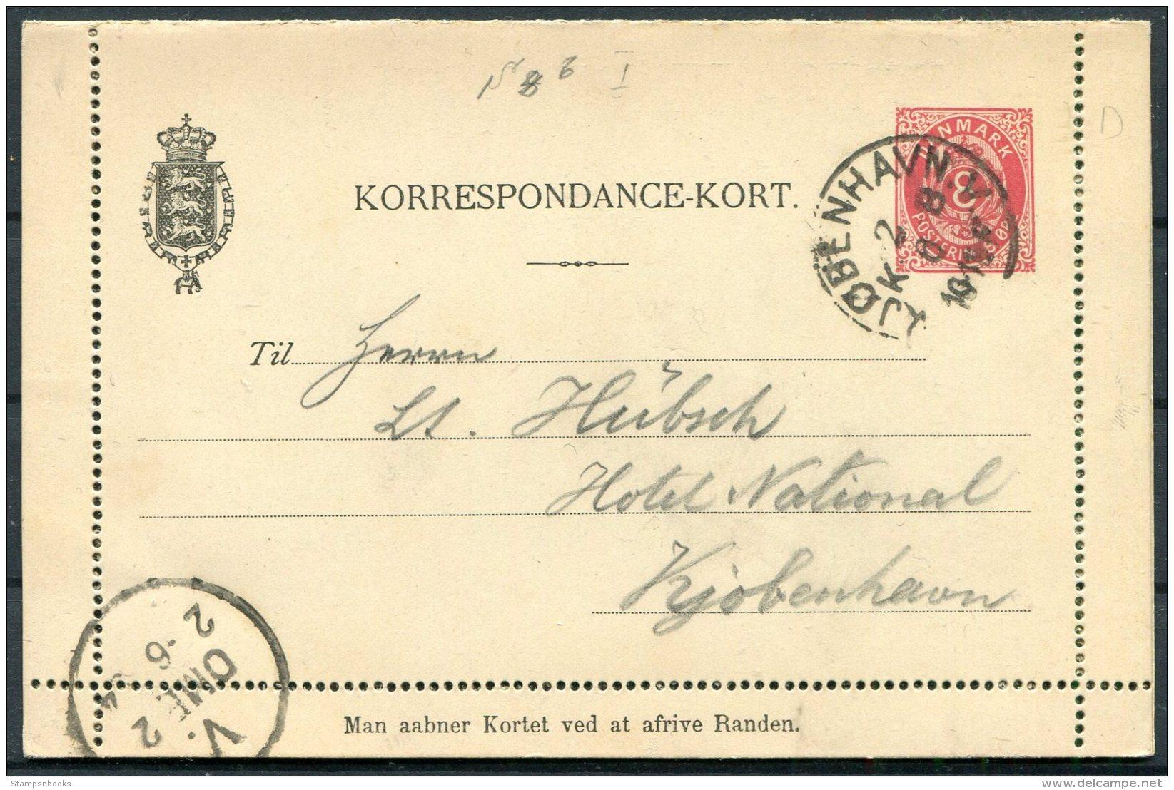 Denmark 8 Ore Stationery Lettercard / Korrespondance-Kort Copenhagen - 1864-04 (Christian IX)