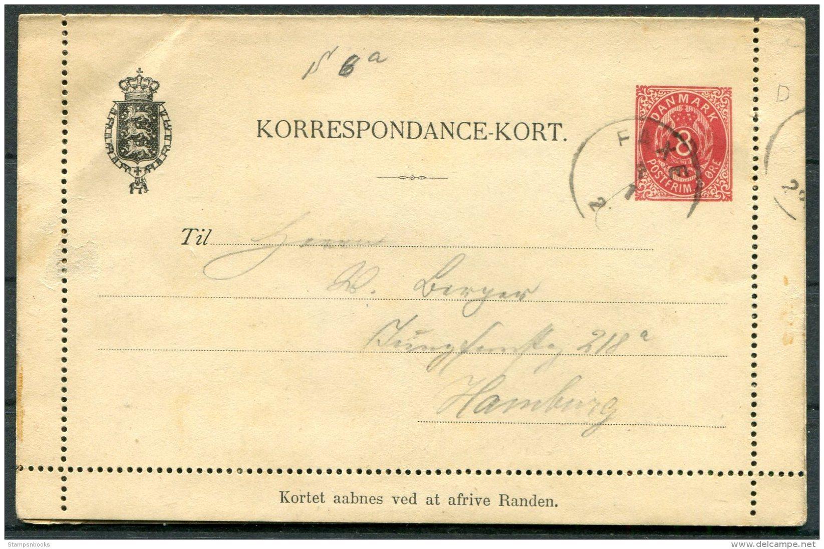 Denmark 8 Ore Stationery Lettercard / Korrespondance-Kort Faxe - 1864-04 (Christian IX)