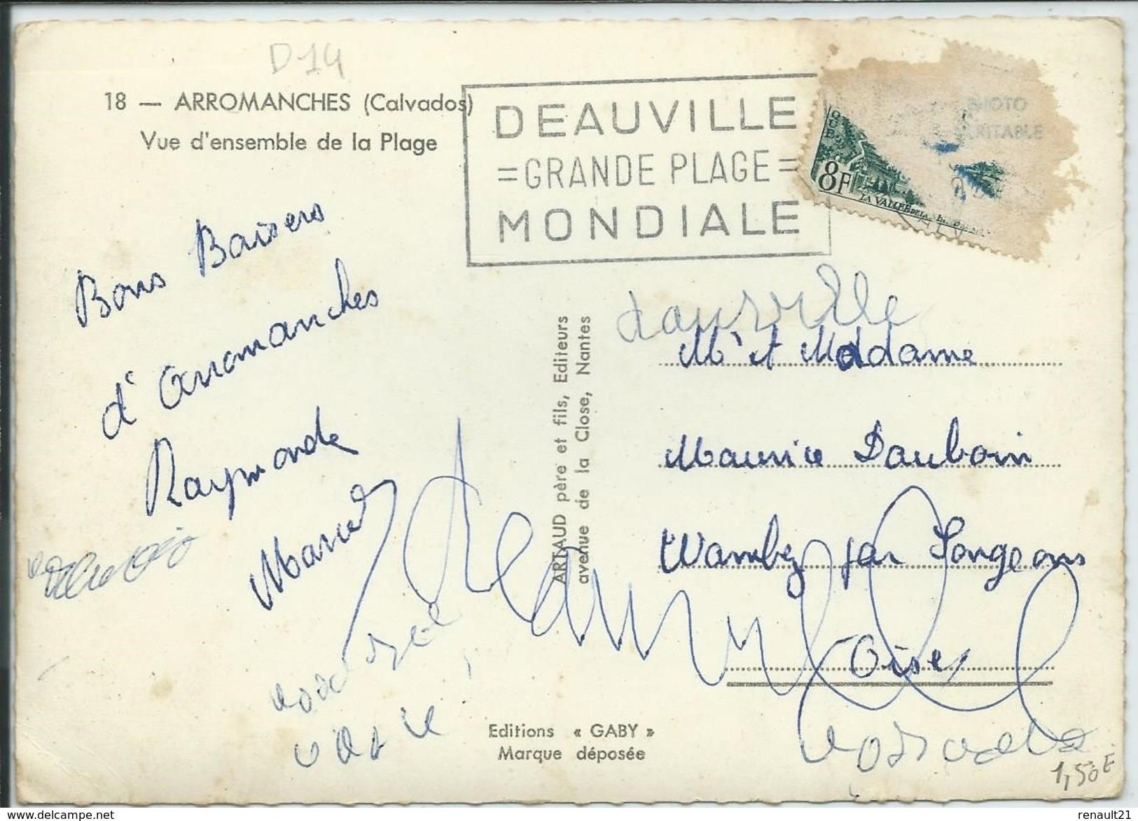 Arromanches-Vue D'ensemble De La Plage-(CPSM) - Arromanches