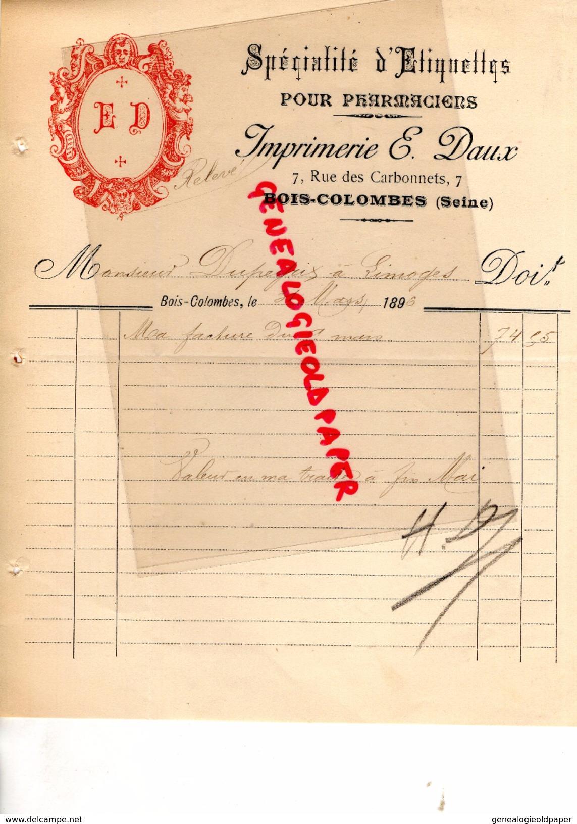 L u2019objet de collection que vous recherchez est sur Delcampe # Imprimerie Bois Colombes
