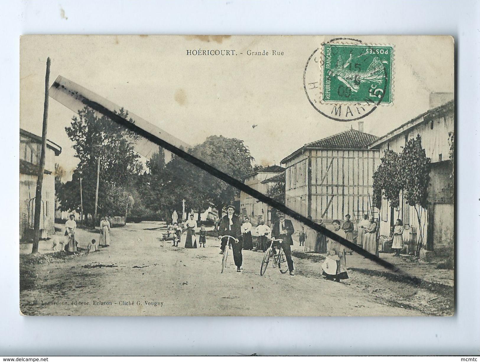 CPA - Abîmée - Hoéricourt  -  Grande Rue - Autres Communes