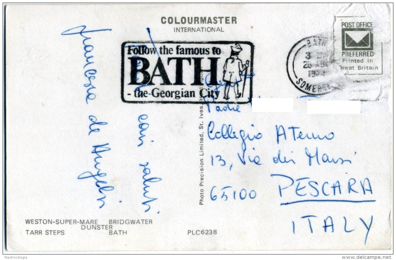 REGNO UNITO  SOMERSET  Multiview  Weston Bridgwater Dunster Tarr Steps Bath - Bath