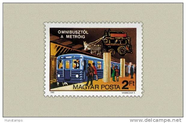 Hungary 1982. Metro -Trains - Railways Set MNH (**) Michel:3576 / 0.50 EUR - Ungebraucht