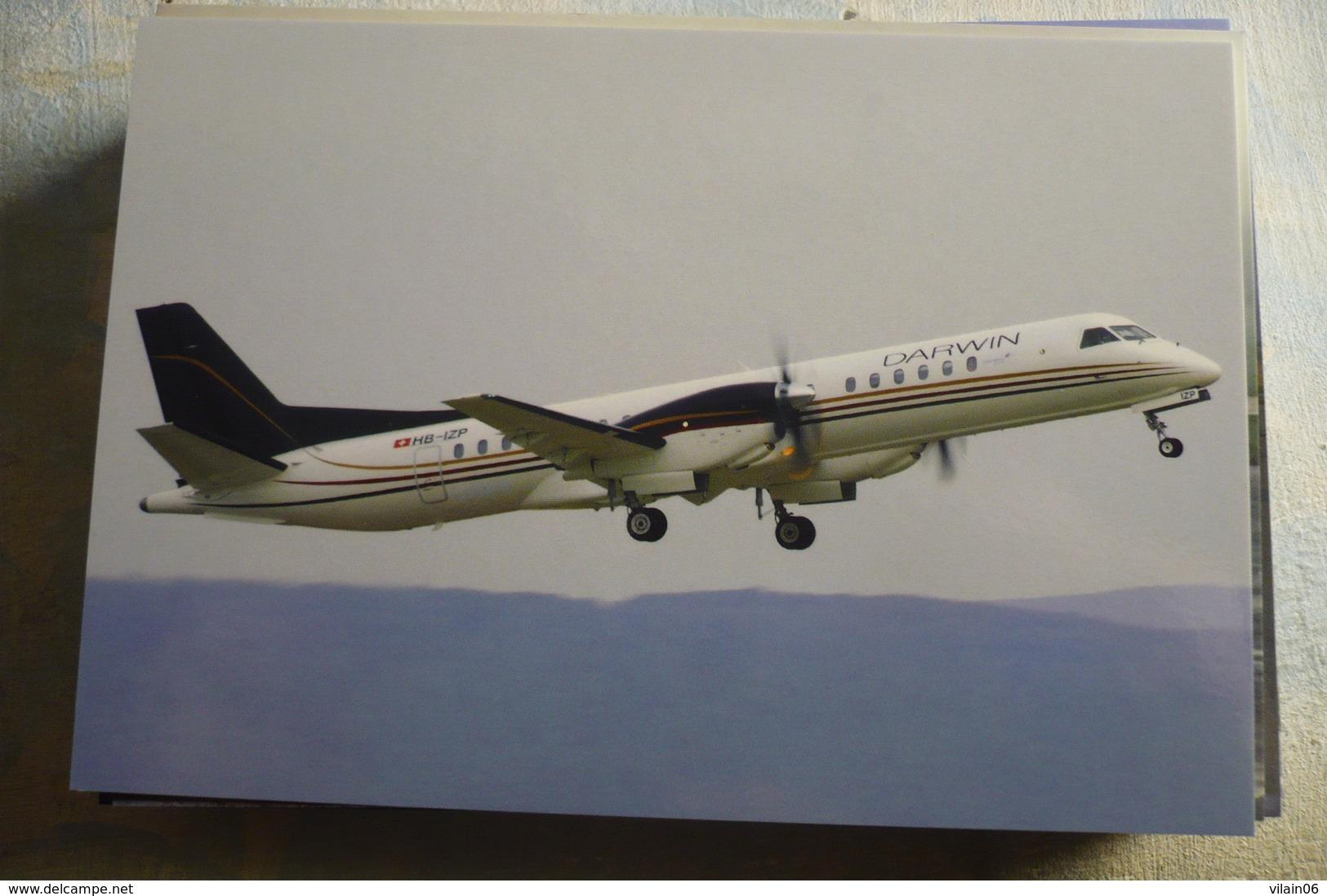 DARWIN AIRLINE  SAAB 2000   HB IZP         BASEL-MULHOUSE AIRPORT 2011 - 1946-....: Moderne