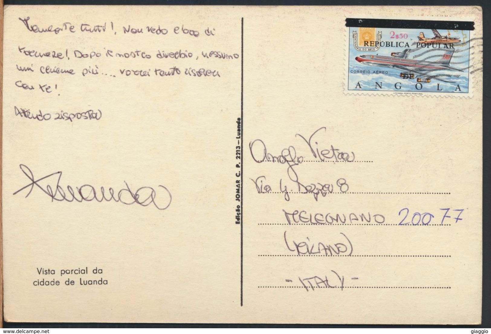 °°° 4284 - ANGOLA - VISTA PARCIAL DE CIDADE DE LUANDA - With Stamps °°° - Angola