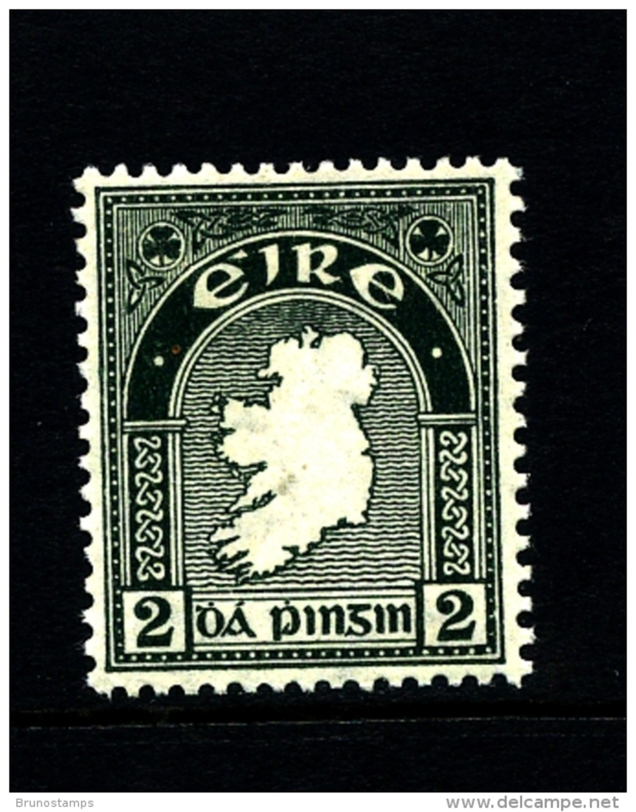IRELAND/EIRE - 1923  2d.  MAP  SE WMK  MINT  SG 74 - Nuovi