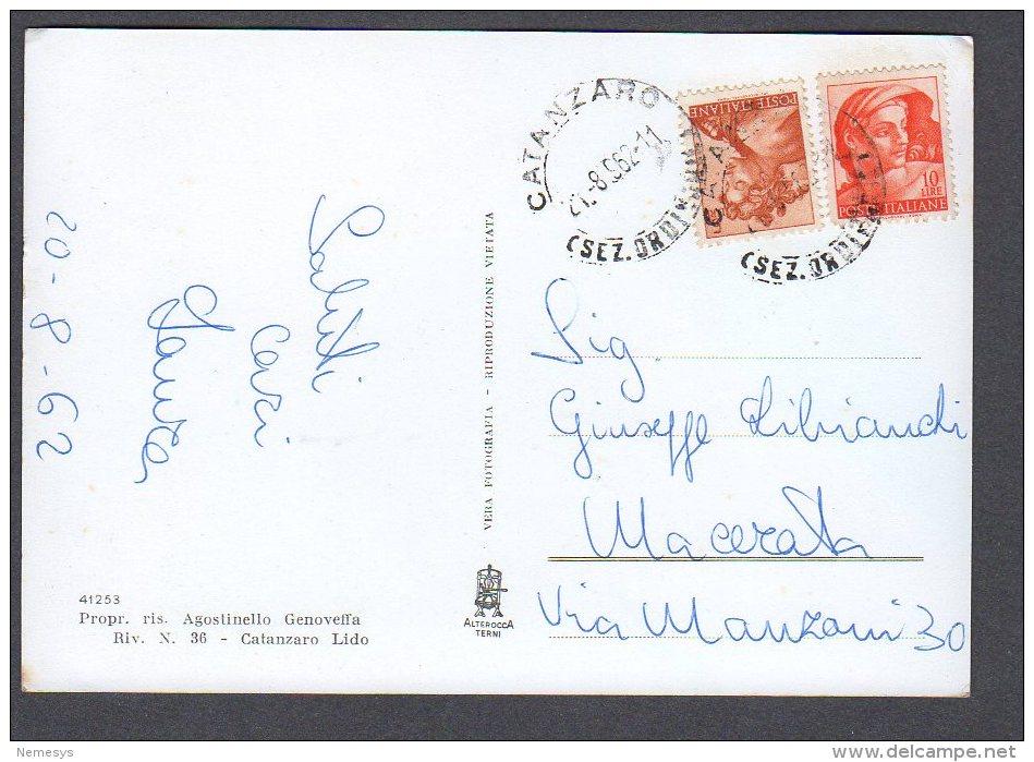 1962 GOLFO DI SQUILLACE FG V  SEE 2 SCANS - Catanzaro
