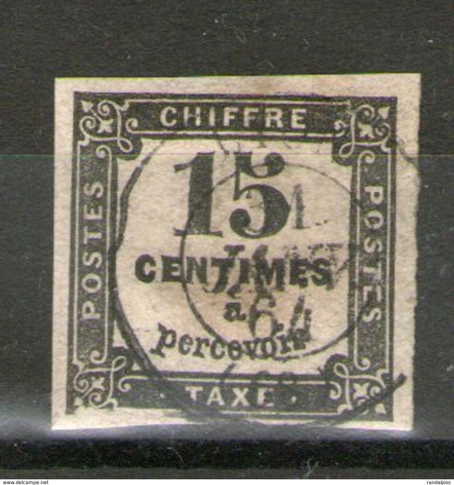 N° 3b°__cote 25.00_31/1/64_aminci Sur Cadre - 1859-1955 Usados