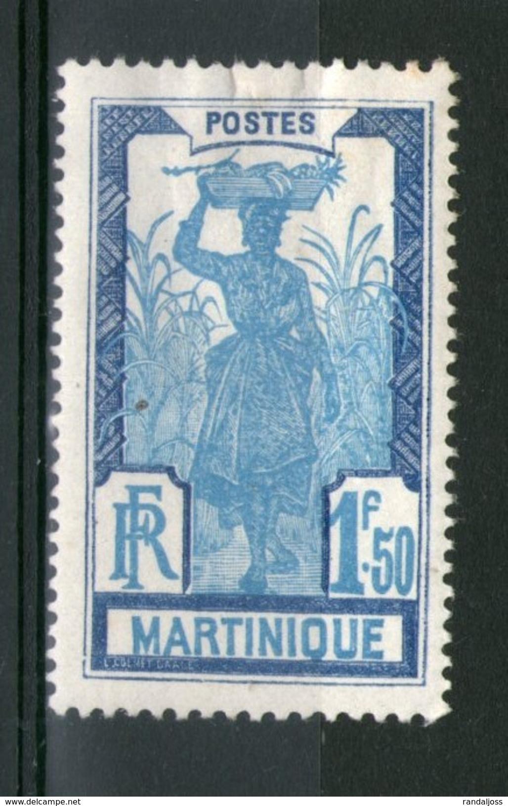 N° 127*_grosse Charnière_cote 7.25 - Martinique (1886-1947)