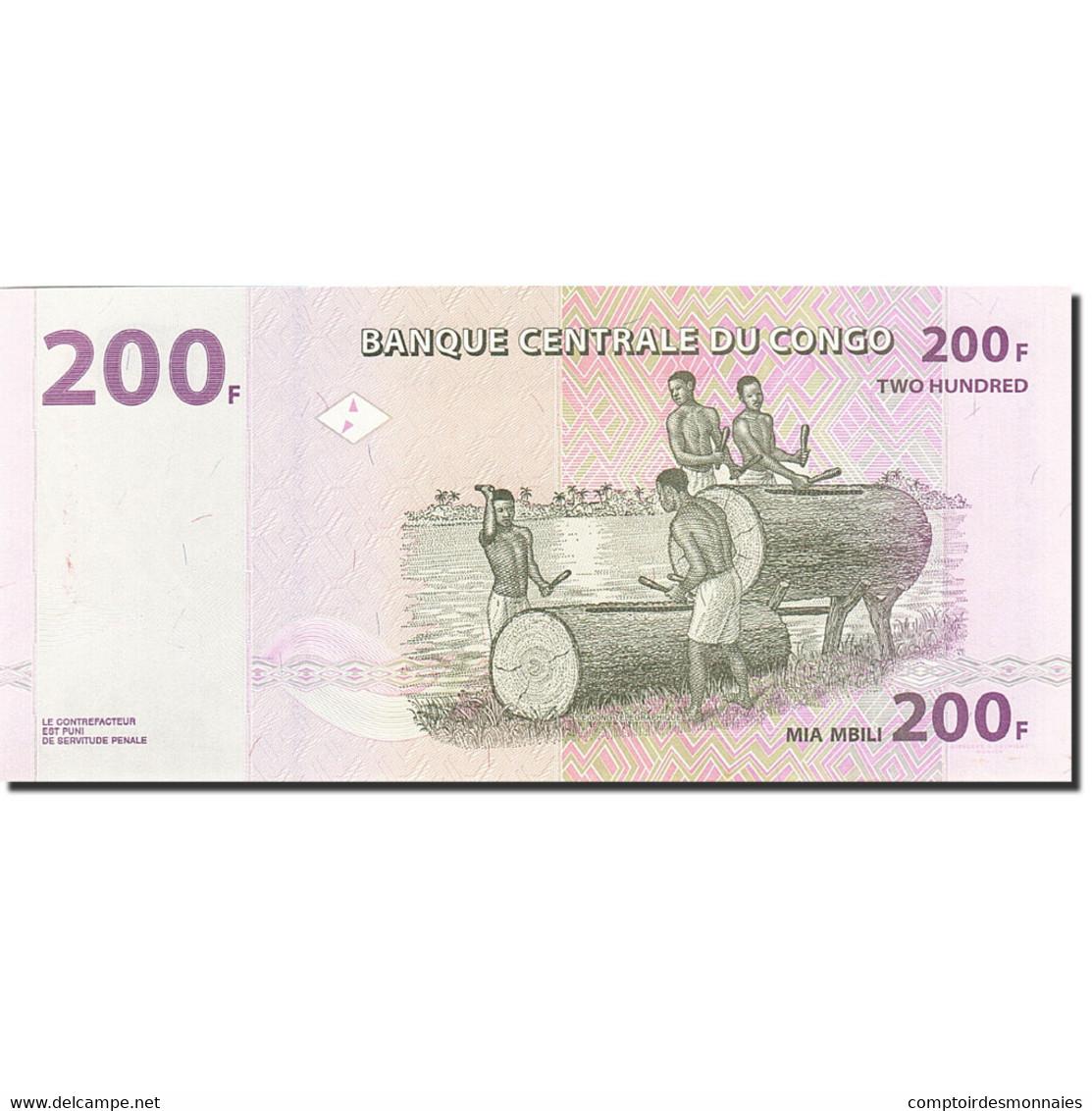 Congo Democratic Republic, 200 Francs, 2007, KM:99a, 2007-07-31, NEUF - Congo