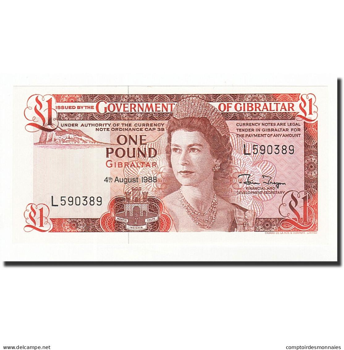 Gibraltar, 1 Pound, 1975-1988, KM:20e, 1988-08-04, NEUF - Gibraltar