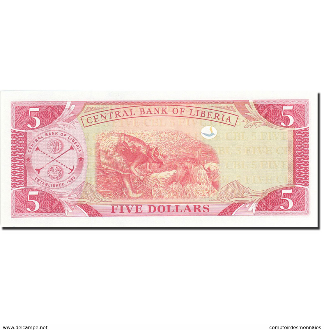Liberia, 5 Dollars, 2003, KM:26a, 2003, NEUF - Liberia