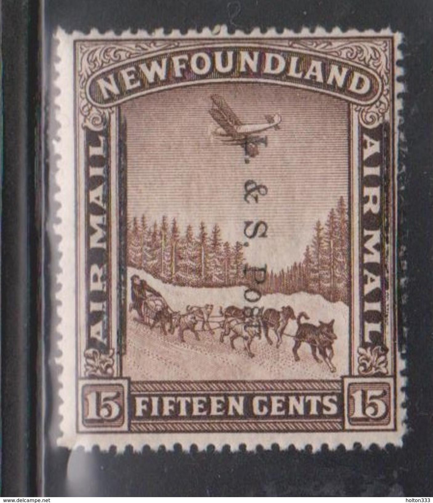 NEWFOUNDLAND Scott # 211 MNH - L & S Post Overprint On 15 Cent Airmail - Newfoundland