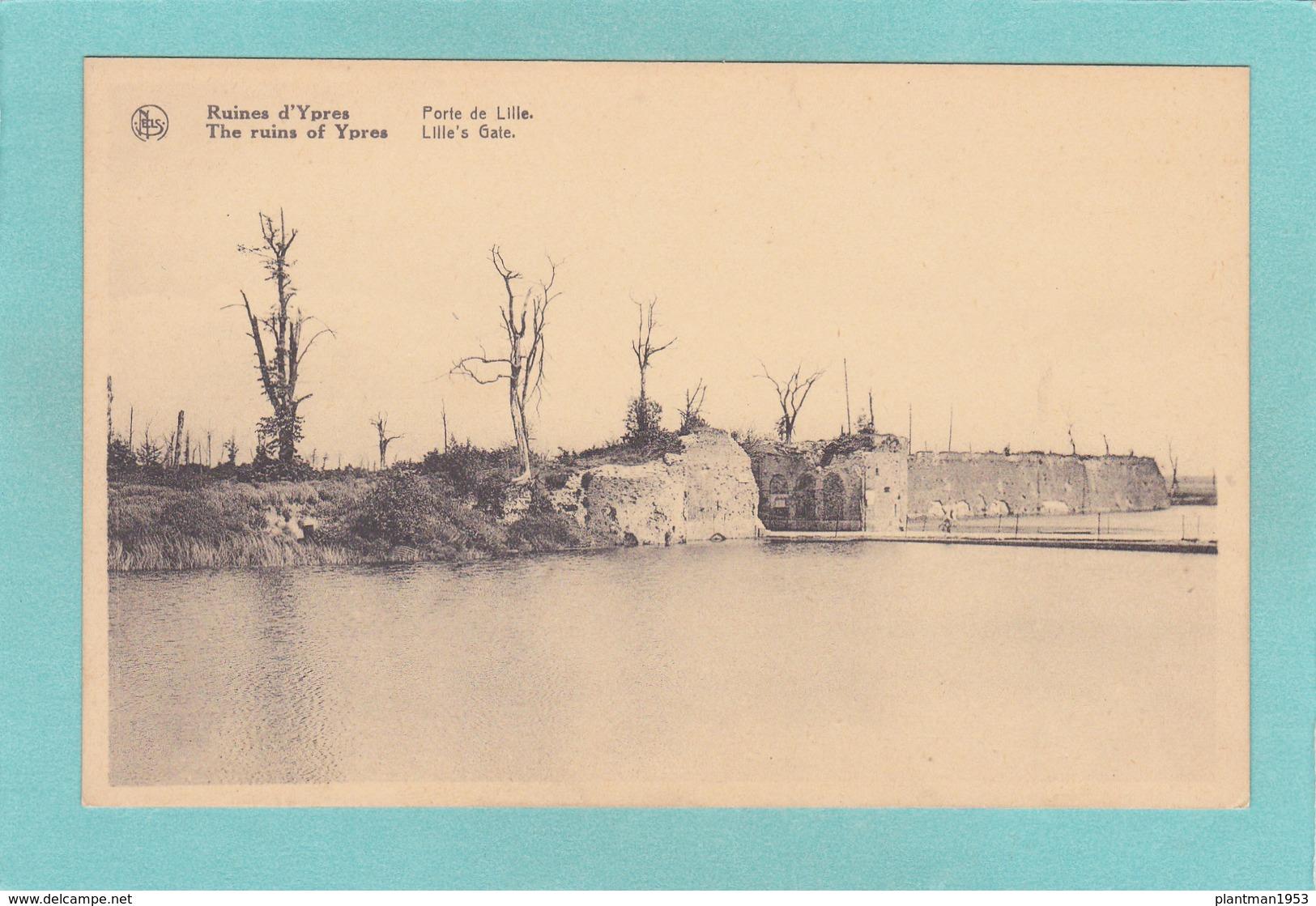 Old Postcard Of Ruines D`Vpres,Ieper,Flemish Province Of West Flanders, Belgium.,R33. - Ieper
