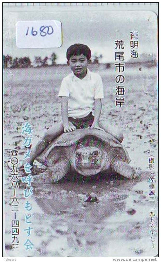 Télécarte Japon * TORTUE  (1680)  PHONECARD JAPAN *  * TURTLE *  TELEFONKARTE * SCHILDKRÖTE - Turtles