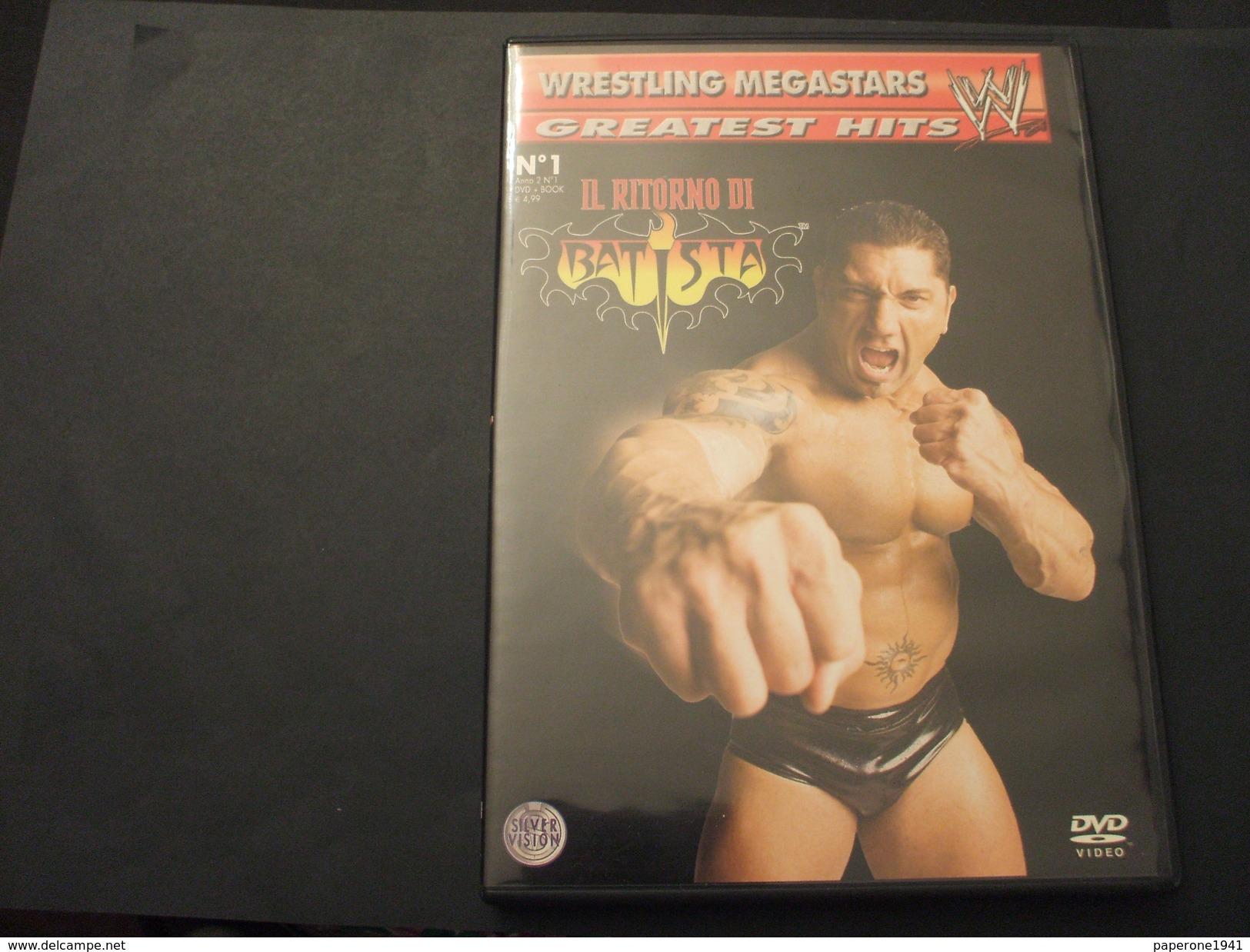 WRESTLING MEGASTARS . DVD VIDEO - N. 1 IL RITORNO DI BATISTA - NUOVO - Lotta (Wrestling)