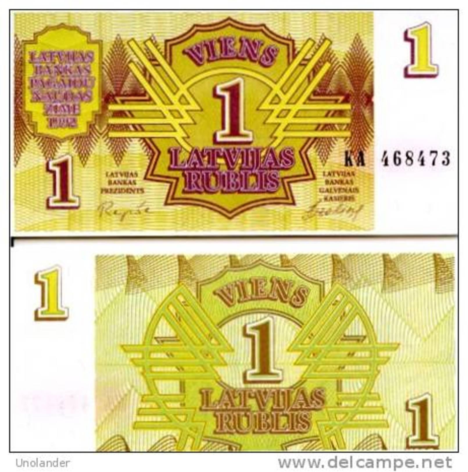 LATVIA  1 Rublis 1992 **UNC** - Lettonie