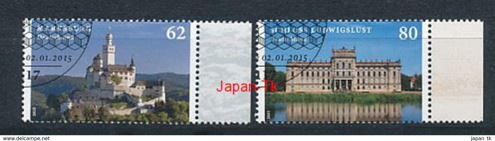 GERMANY Mi.Nr. 3122-3123 Burgen Und Schlösser - Used - BRD
