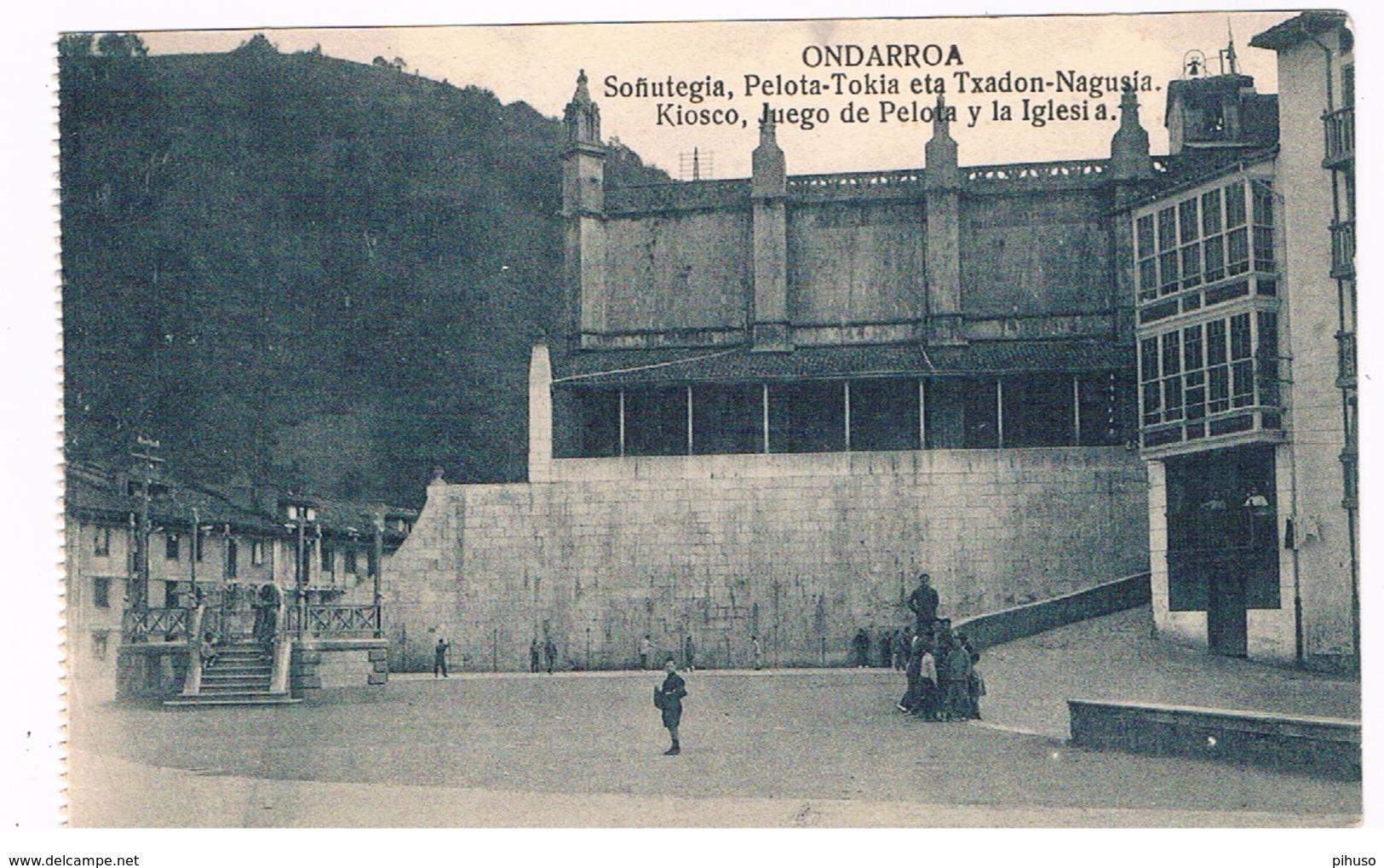 ES-1919  ONDARROA : Sofiutegia, Pelota-Tokiaeta Txadon=Nagusia - Spain