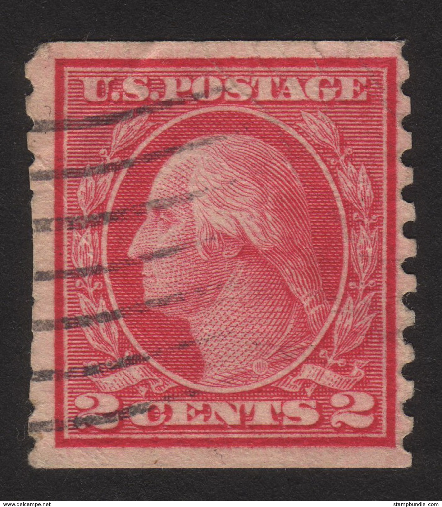 1915 US, 2c Stamp, Used, George Washington, Sc 454 - Used Stamps