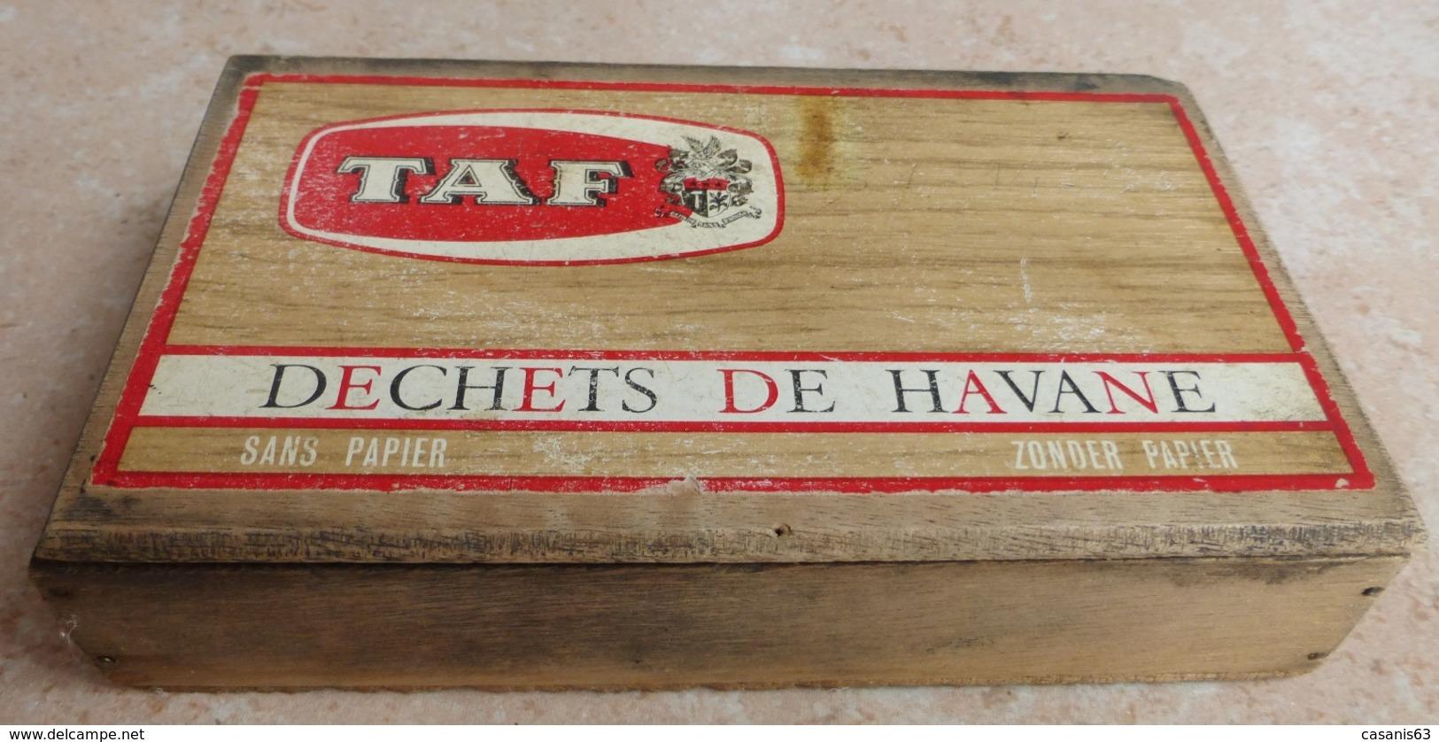 TABAC  )    BOITE  A  CIGARES  -   TAF - Déchets De Havanae - Sans Paper -   En Bois - Étuis à Cigares