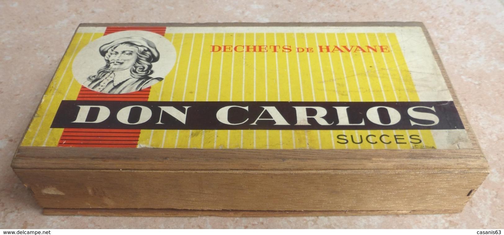 TABAC  )    BOITE  A  CIGARES  -   DON CARLOS - Déchets De Havane  Succes  -   En Bois - Étuis à Cigares