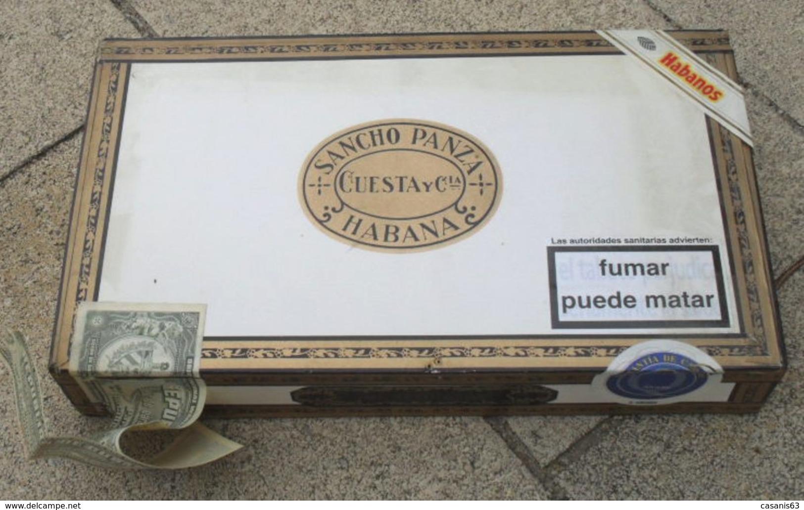 TABAC  )    BOITE  A  CIGARES  -    SANCHO  PANZA   -  GRAN FABRICA  DE TABACOS DE  CUESTA Y CIA - Contenitore Di Sigari