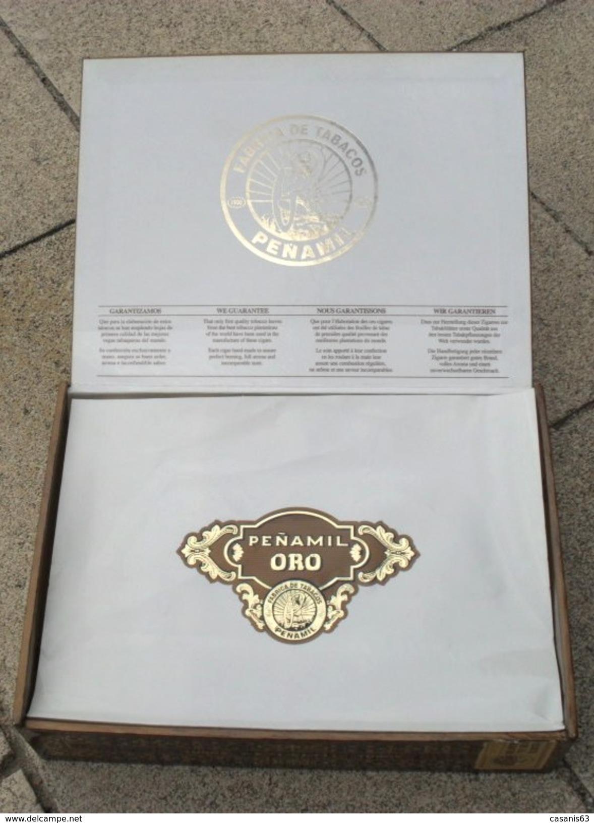 TABAC  )    BOITE  A  CIGARES  -    PENAMIL  -  ORO - Cigar Cases