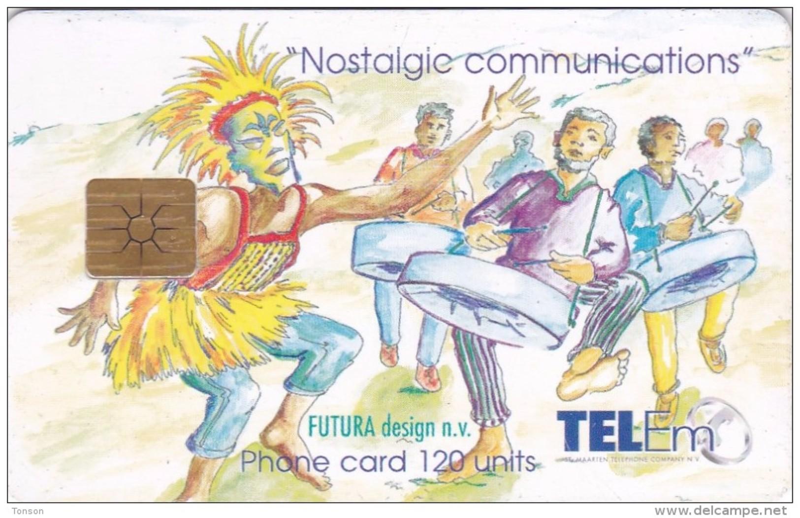 Saint Marteen, CH-TMM-1005, 120 Units, Celebration Carnival, 2 Scans. - Antilles (Netherlands)